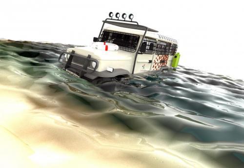 Amphicruiser Concept 1 - Boat + Water
